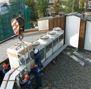 Установка чиллеров (или мультизональников) на крышу